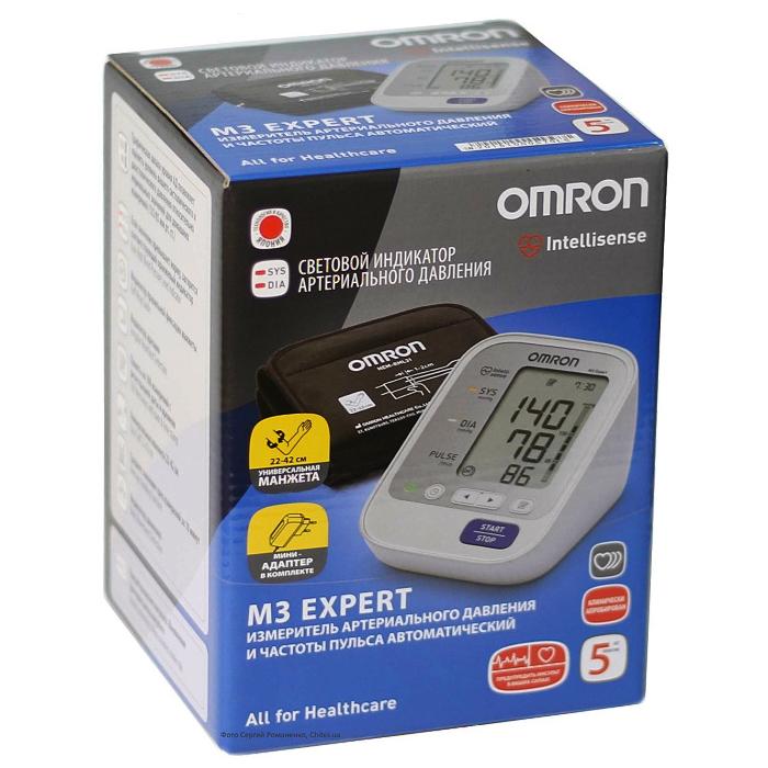 Тонометр Omron M3 Expert HEM-7132-ALRU с адаптером и универсальной манжетой